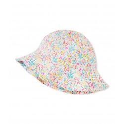 Girls' print sun hat
