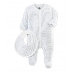 Σετ φορμάκι μακρυμάνικο με σχέδιο και σαλιάρα για μωρό αγόρι