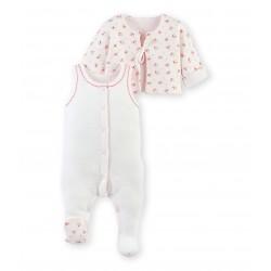 9fd3b399746 Σετ φορμάκι ολόσωμο αμάνικο και ζακέτα για μωρό κορίτσι ...