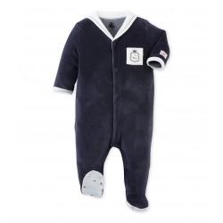 ce3cf788a57 Φορμάκι ολόσωμο μακρυμάνικο με ναυτικό γιακά για μωρό αγόρι ...