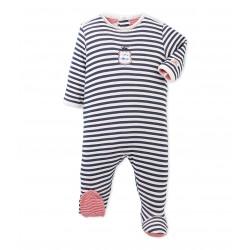447852c8598 Φορμάκι ολόσωμο μακρυμάνικο ριγέ για μωρό αγόρι ...
