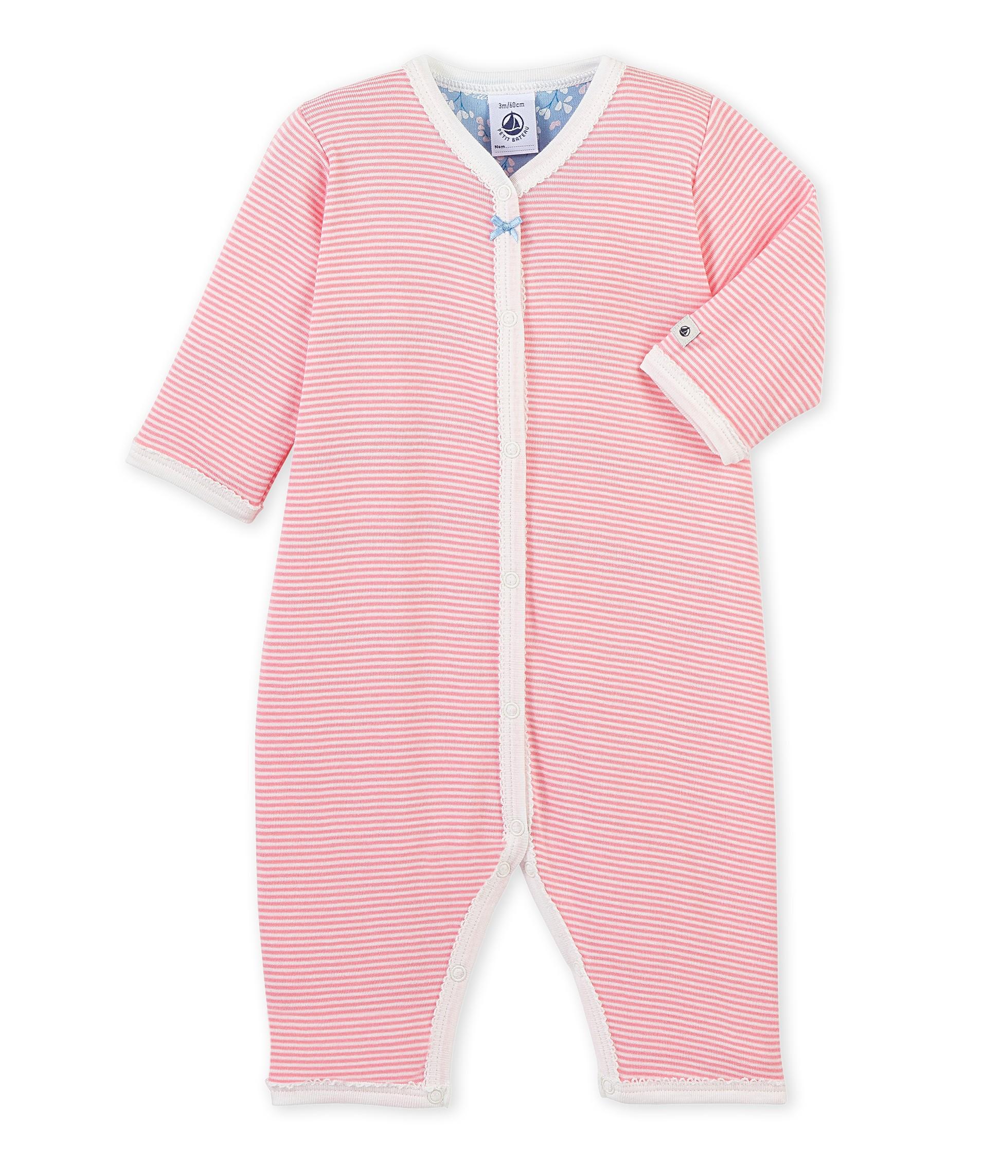 1fe23630a Baby girl s footless pajamas - petit-bateau.gr