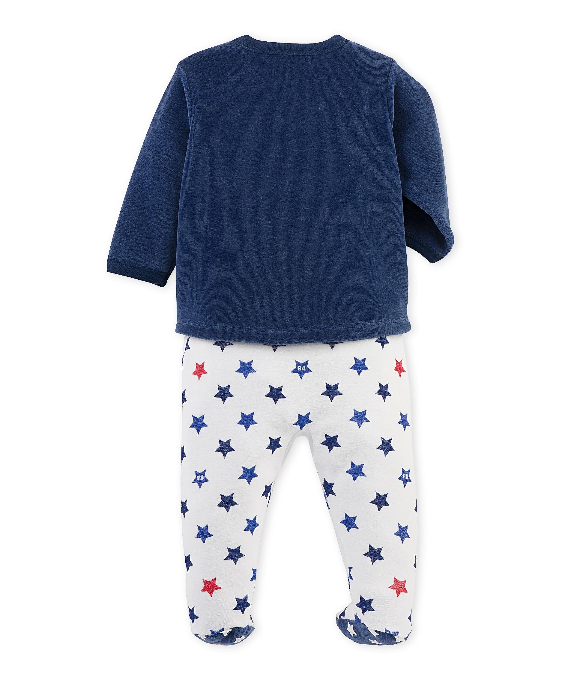be84afb51955 Baby boy s pajamas with feet - petit-bateau.gr