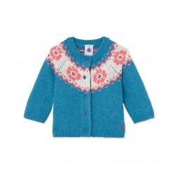 Baby girl's jacquard cardigan