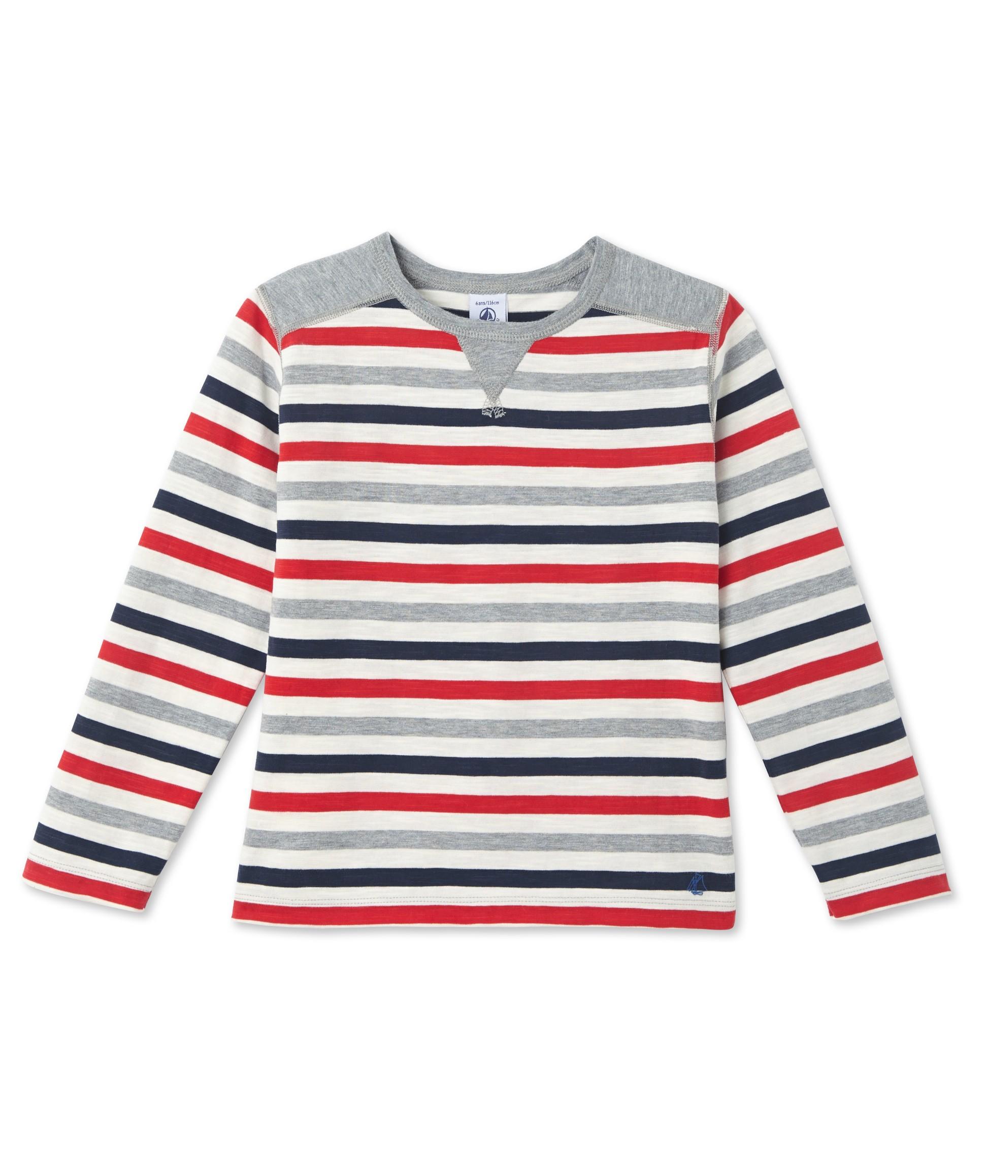 Boys 39 striped t shirt petit for Petit bateau striped shirt