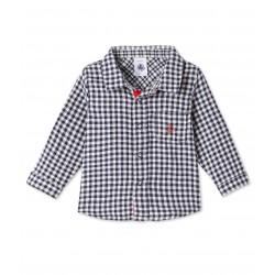 Baby boy's plaid shirt