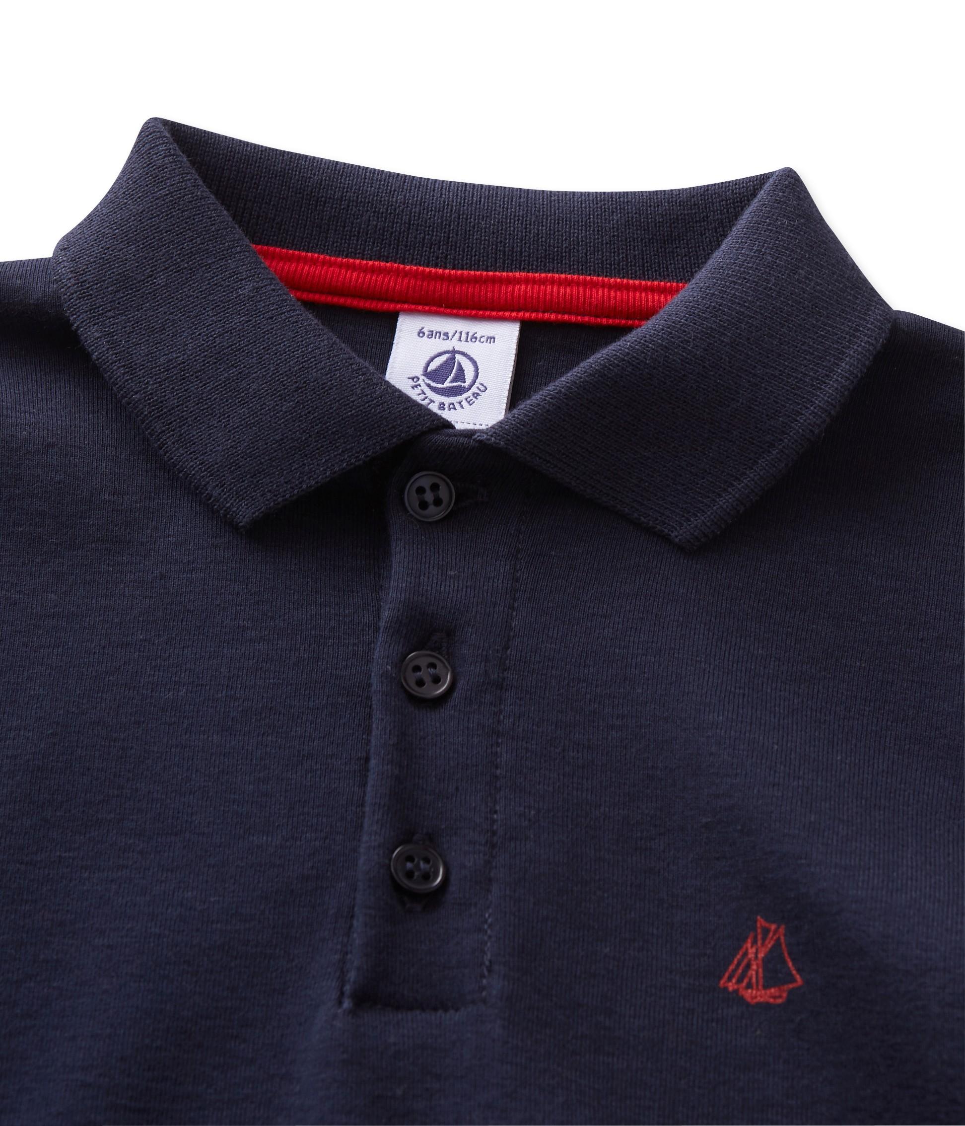 Μπλούζα πόλο μακρυμάνικη για αγόρι - petit-bateau.gr fdf8e92b350