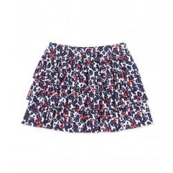 Girls' ruffled print skirt
