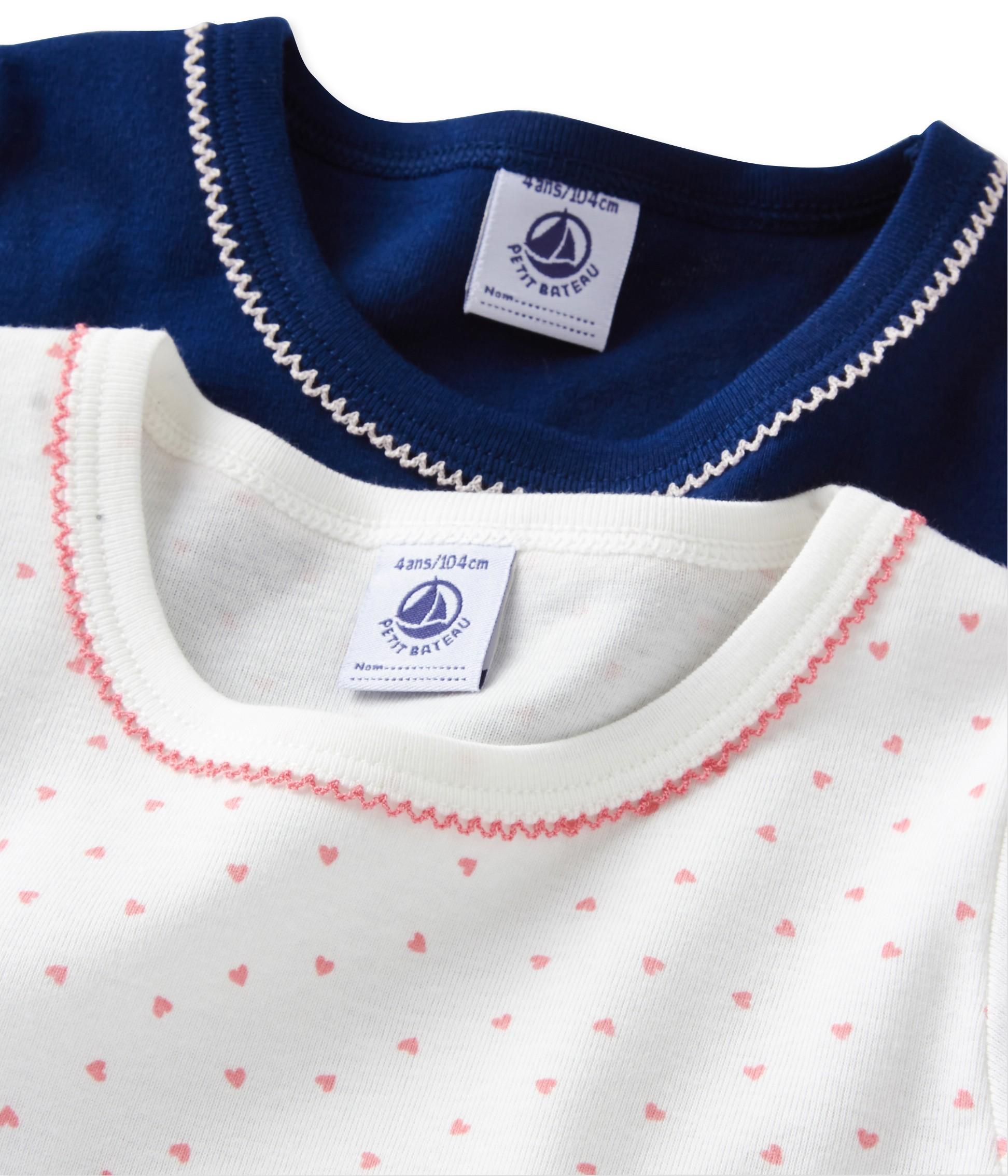 a6203b2b5b97 Σετ 2 μπλούζες κοντομάνικες για κορίτσι - petit-bateau.gr