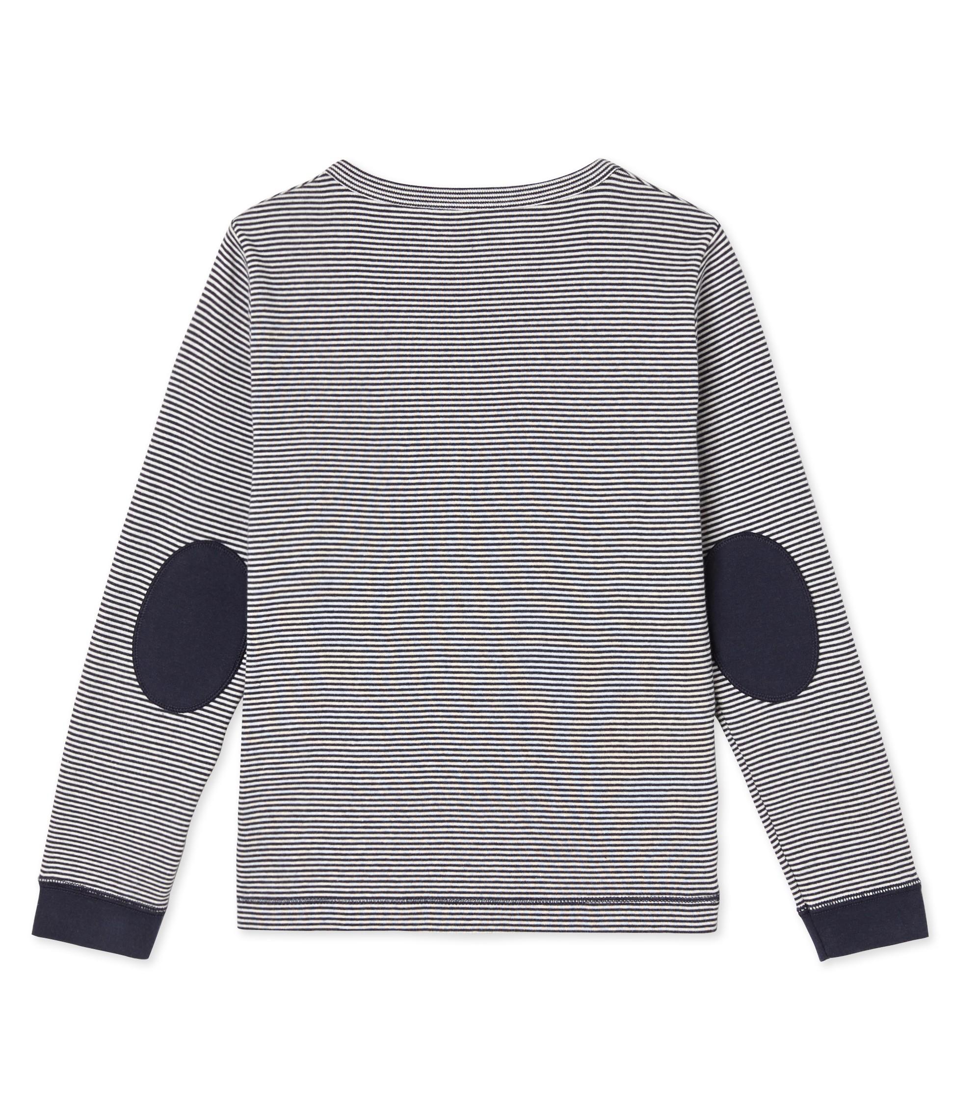 Boy 39 s long sleeved striped t shirt petit for Petit bateau striped shirt