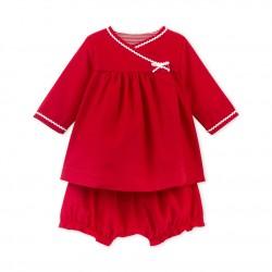Φόρεμα μακρυμάνικο με φουφούλα για μωρό κορίτσι