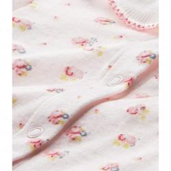 Φορμάκι ολόσωμο μακρυμάνικο με σχέδιο για μωρό κορίτσι