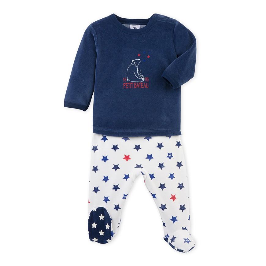 20521fbd9215 Baby boy s pajamas with feet - petit-bateau.gr