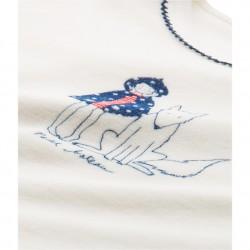 Πιτζάμα μακρυμάνικη με σχέδιο βελουτέ για κορίτσι