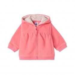 e1063d3984b Ζακέτα φόρμας με φερμουάρ και κουκούλα για μωρό κορίτσι ...