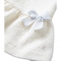 Φόρεμα μονόχρωμο καπιτονέ για μωρο κορίτσι