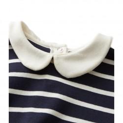 Girls' long-sleeved striped T-shirt