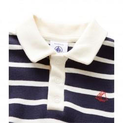 Μπλούζα πόλο μακρυμάνικη ριγέ για μωρό αγόρι