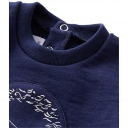 Baby boy's dual material sweatshirt