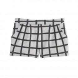 Girls' check shorts