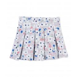 Girl's floral print fleece skirt