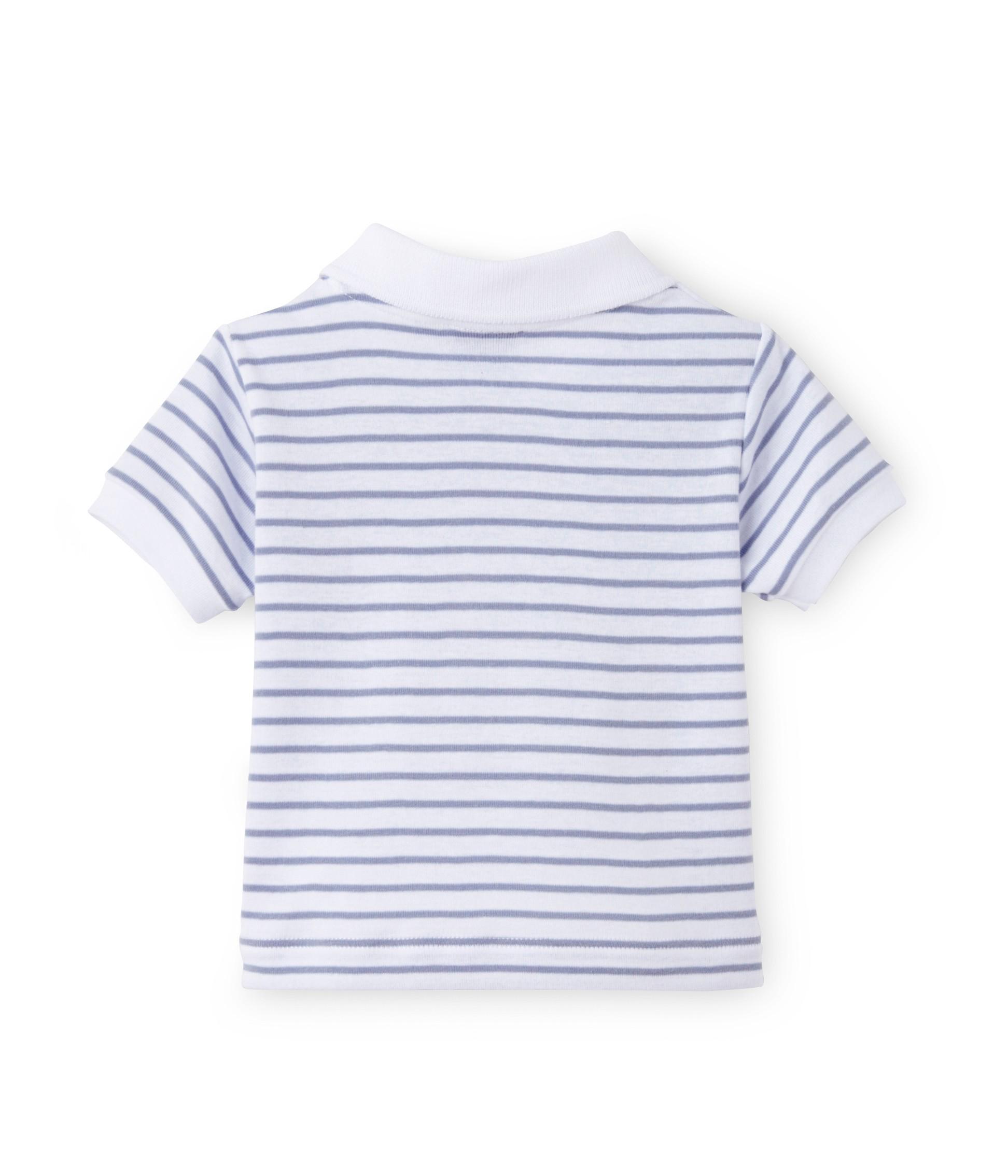 5d6e714e856a Μπλούζα πόλο ριγέ για μωρό αγόρι - petit-bateau.gr