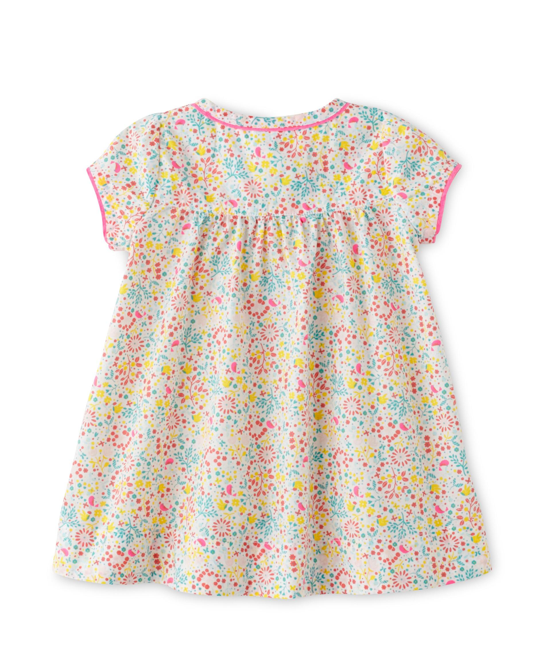 03ccee4c6db Φόρεμα κοντομάνικο εμπριμέ για μωρό κορίτσι - petit-bateau.gr