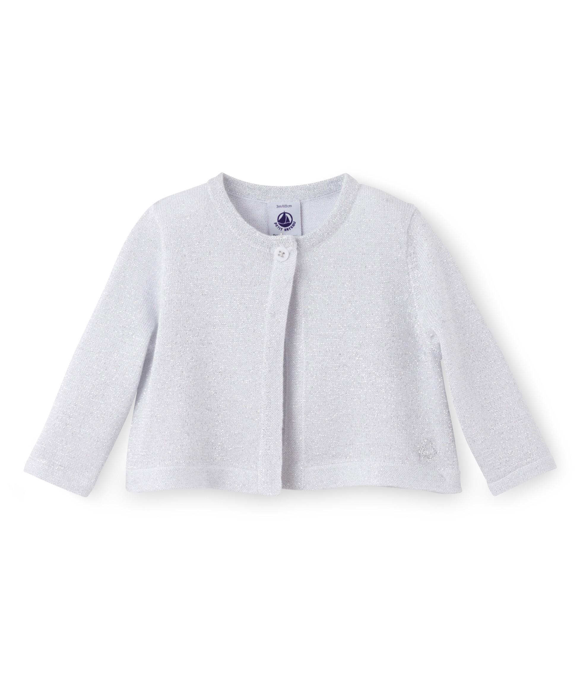 3cf1967dd Baby girl Lurex knit bolero cardigan - petit-bateau.gr