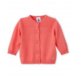 bb46871b993 Ζακέτα βαμβακερη μονόχρωμη για μωρό κορίτσι ...
