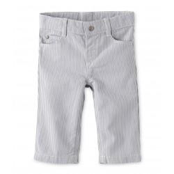 Παντελόνι βαμβακερό ριγέ για μωρό αγόρι