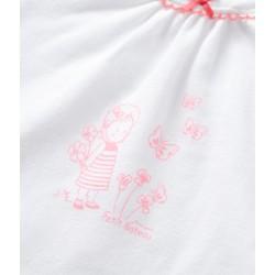 Πιτζάμα κοντομάνικη με σχέδιο από ελαφρυ βαμβάκι  για μωρό κορίτσι