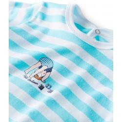 Φορμάκι ολόσωμο ριγέ για μωρό αγόρι