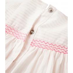 Σετ φόρεμα ριγέ και φουφούλα για μωρό κορίτσι