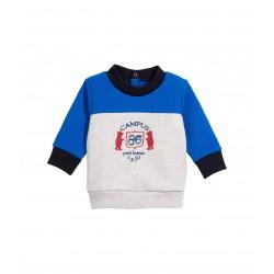 Baby boy colourblockblock brushed sweatshirt with motif