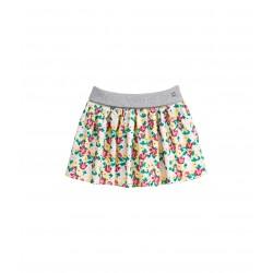 Girl's twill skirt with nasturtium print