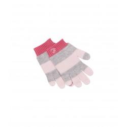 Γάντια από μαλλί και βαμβάκι ριγέ unisex