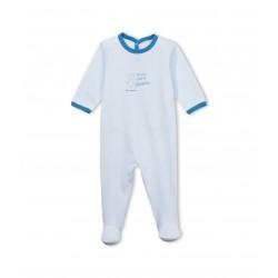 Unisex baby animal silkscreen print cotton sleepsuit