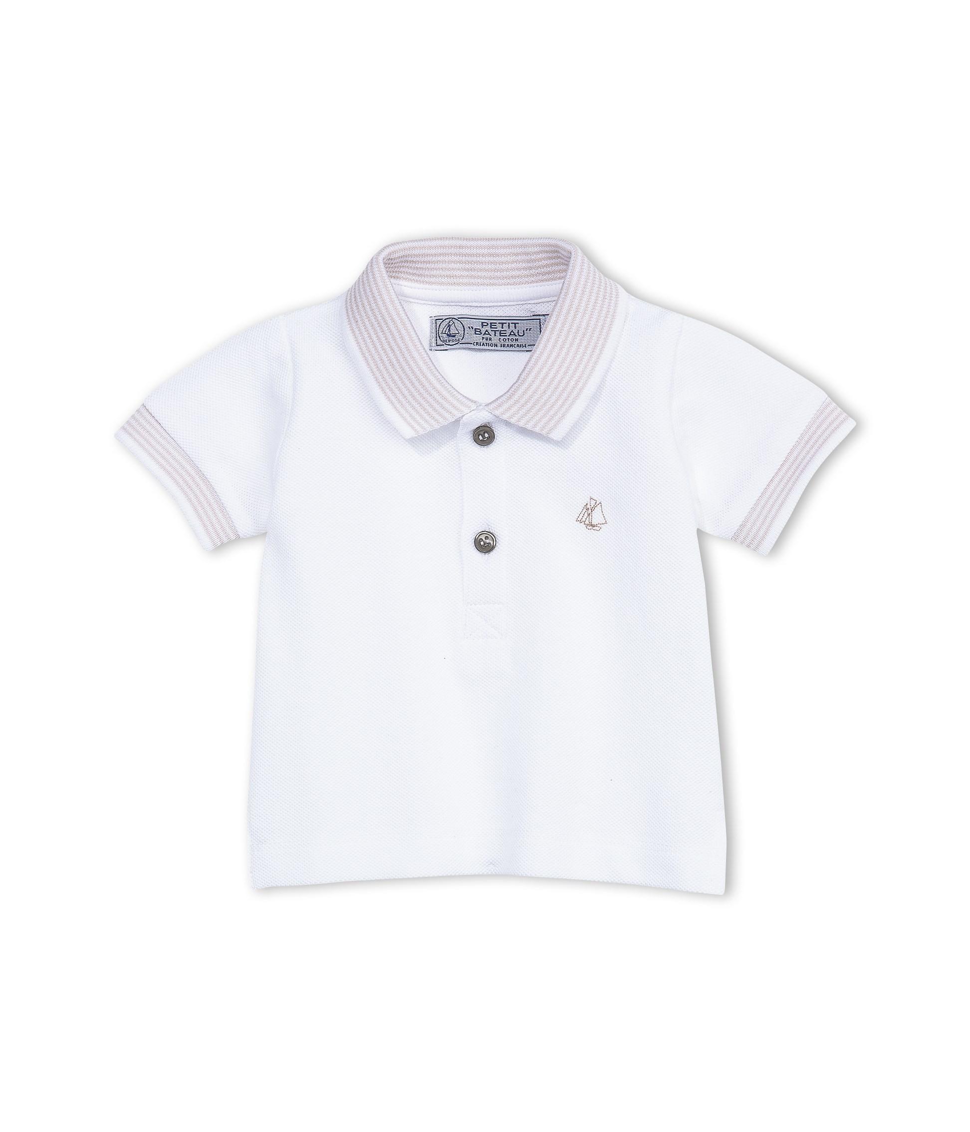 9ff4c1ce02c Baby boy polo shirt in pique jersey - petit-bateau.gr