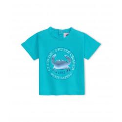 Baby boy light jersey T-shirt with sailor motif
