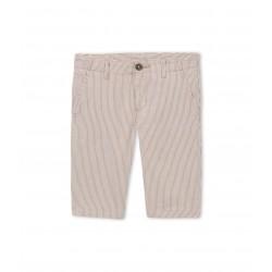 Boy's striped chino Bermuda shorts
