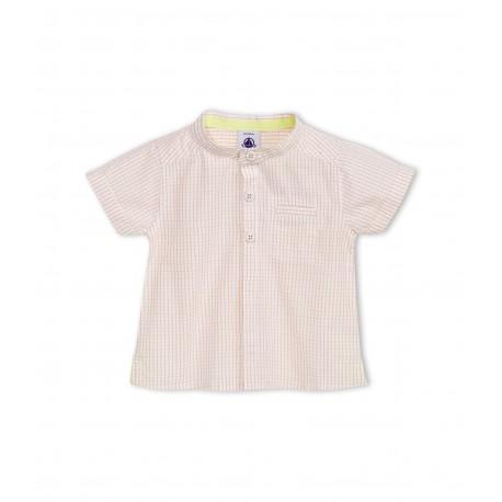 Baby boy short-sleeved mini-checked shirt
