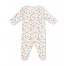 Baby girl floral print sleepsuit