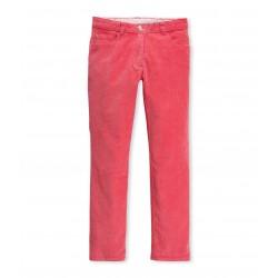 Girl's slim corduroy trousers