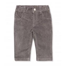 Unisex baby five-pocket stretch velours pants