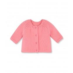 Baby girl wool knit cardigan