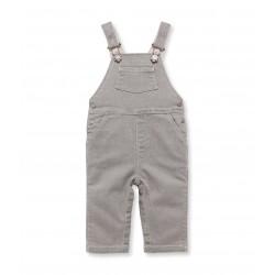 Baby boy stretch denim overalls