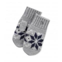 Boy's wool jacquard mittens