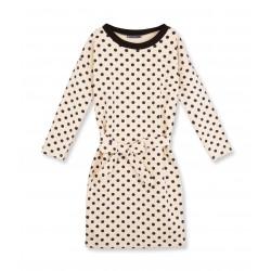 Women's polka dot belted dress