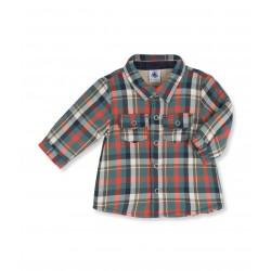 Baby boy plaid overshirt