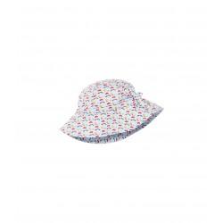 Baby girl printed poplin sun hat